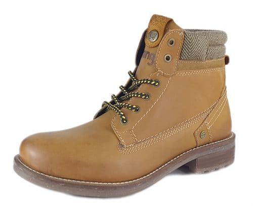 Wrangler - Hill Tweed Camel Tan Lace Up Boots